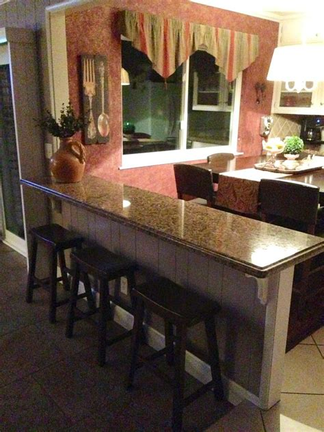 Removing Kitchen Breakfast Bar by Turn That Half Wall Into A Breakfast Bar Additional