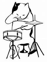 Tambour Musique Gato Baterista Tarnowskie Matematyczne Trommel Pinclipart Ausmalbilder Musikinstrumente Tocando Cymbals Bateria Tambor sketch template