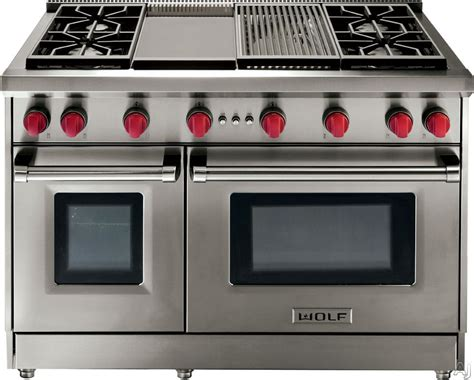 commercial stove with knobs wolf gr488x 48 inch pro style gas range with 8 dual