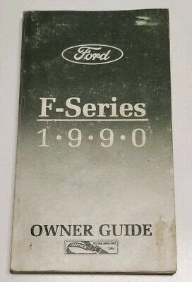 ford  series       owners manual