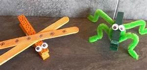 Bricolage 3 Ans : 2 insectes avec une pince linge ~ Melissatoandfro.com Idées de Décoration