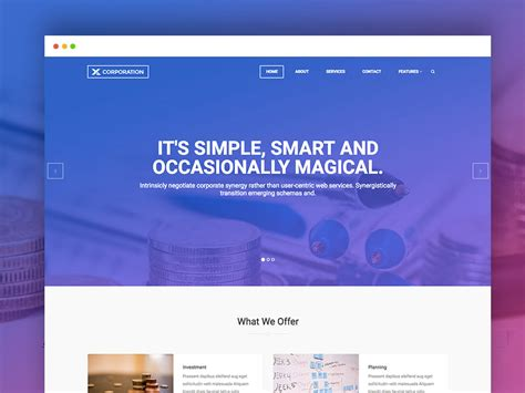 corporation   bootstrap html template uicookies
