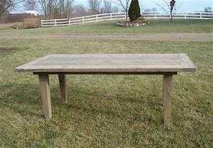 Amish Rustic Plank Farmhouse Dining Table Barn Wood