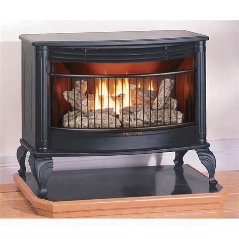 fireplace propane heater procom dual fuel stove 25 000 btu model qd250t dual
