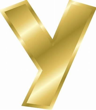 Letter Gold Alphabet Letters Clipart Clip Effect