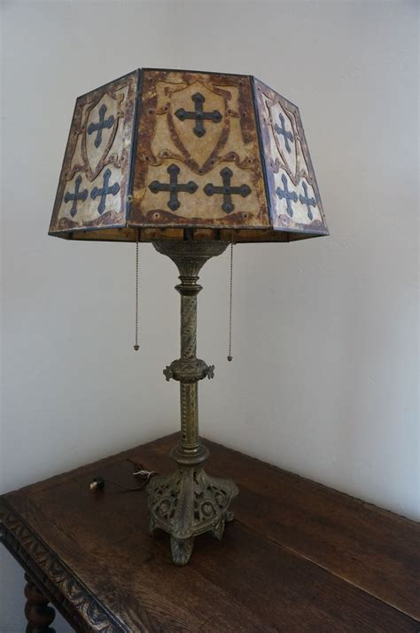 antique gothic lamp  mica shade antiques shades