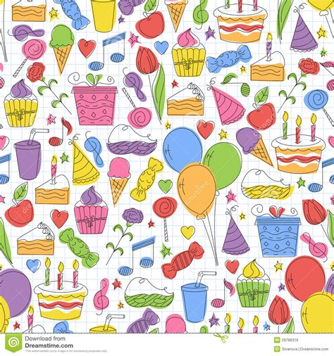 colorful birthday seamless pattern royalty free stock