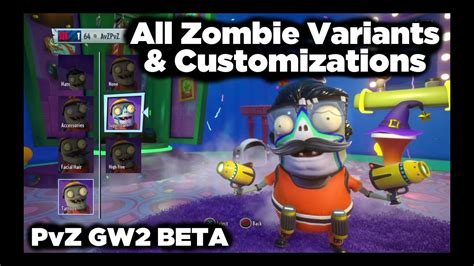 gw2 pvz customizations zombie beta