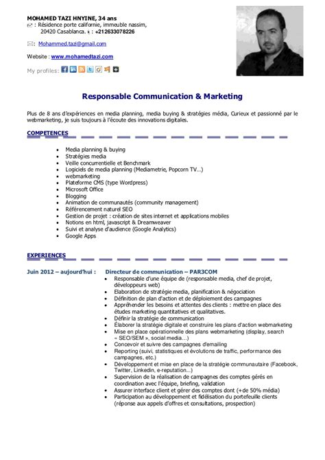 Cv Exemple Professionnel by Exemple Cv Projet Professionnel Cv Anonyme