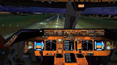 pmdg  cockpit night landing  manchester egcc hd