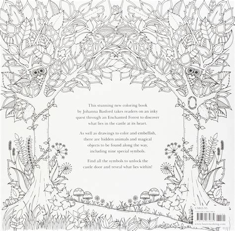 enchanted forest  inky quest coloring book paperback