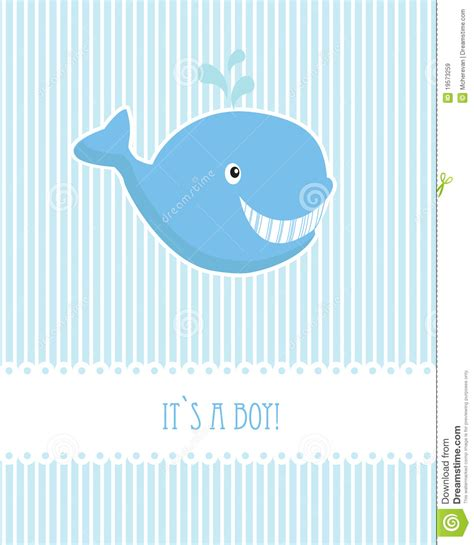 Ee  Baby Ee    Ee  Boy Ee   Birthday Card With Whale Royalty Free Stock