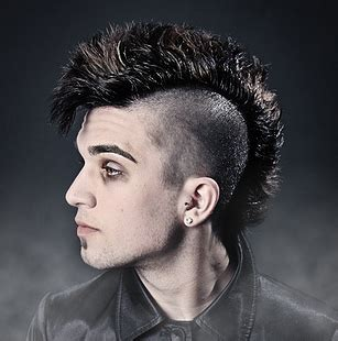 cool funk punk hairstyle photo png