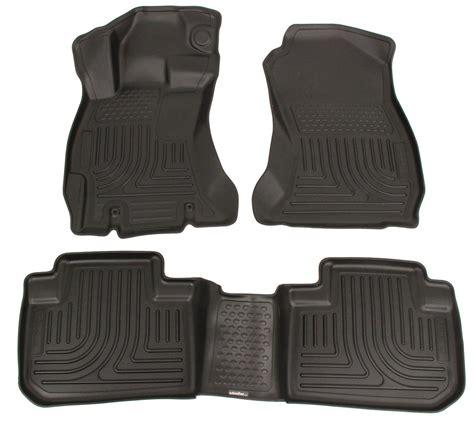 floor mats subaru 2015 subaru forester husky liners weatherbeater custom auto floor liners front and rear black