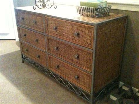pier  wicker metal  drawer dresser wicker furniture