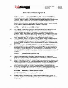 sample software license agreement With software license agreement template b2b