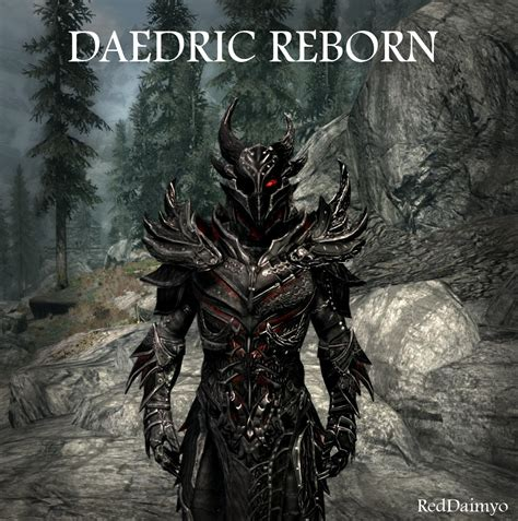 daedric armor mod at skyrim nexus mods and community daedric reborn at skyrim nexus mods and community Godly