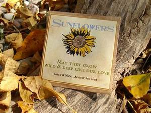 seed packet party favor sunflowers With sunflower wedding favor ideas