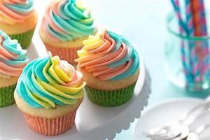 Rainbow Frosted Cupcakes - Flourish - King Arthur Flour
