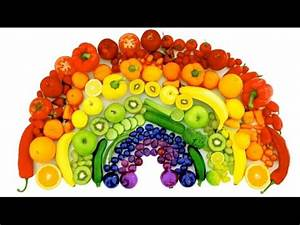 Learn Colors of the Rainbow with Real Fruits and ...