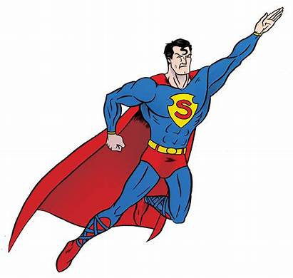 Superman Flying Clipart Clip Super Hero Background