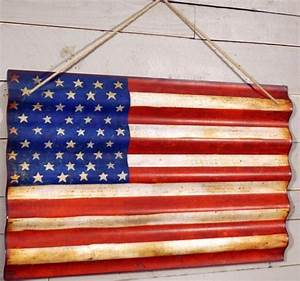 corrugated metal american flag wall art farmhouse With kitchen cabinets lowes with vintage american flag wall art