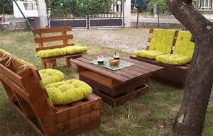 Salon De Jardin Palettes : fabriquer un salon de jardin en palettes c 39 est pas moi ~ Farleysfitness.com Idées de Décoration