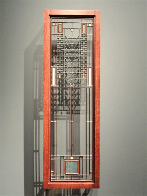 file casement window about 1904 frank lloyd wright leaded glass in metal frame