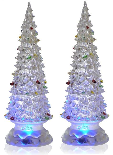 lighted christmas trees set   color changing led