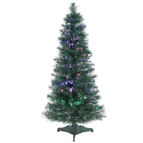 artifical trees with highest tip count sterling 4 ft pre lit fiber optic artificial tree with 166 tips 6515 48 the home depot