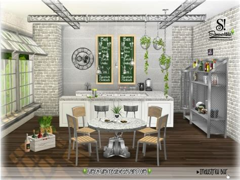 country kitchen appliances the sims resource industrial bar by simcredible sims 4 2724