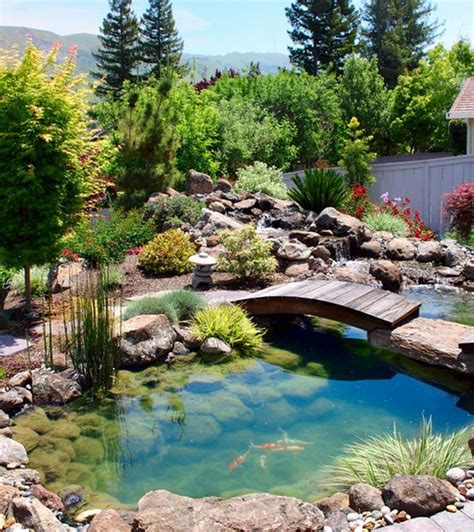 landscaping a pond natural inspiration koi pond design ideas for a rich and tranquil home landscape