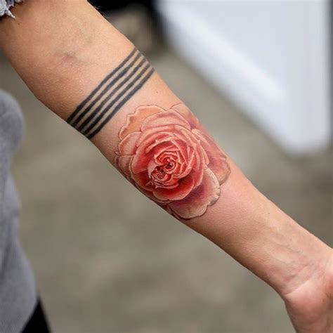 realistic rose tattoo  mikhail andersson