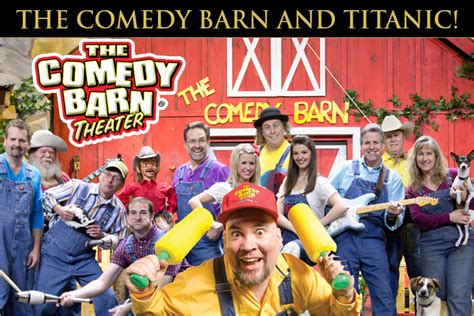 comedy barn tickets combo offer titanic museum attraction in pigeon forge tn