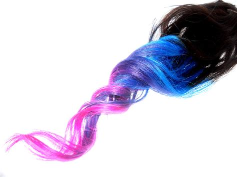 Pinkbluepurpleturquoise Ombre Dip Dyed By Artisicstrands