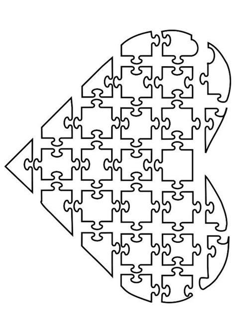 Puzzel Kleurplaat by Kleurplaat Puzzel Hart Afb 21144