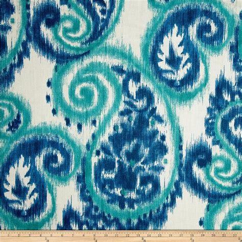 richloom carravagio paisley riviera blue  white fabric