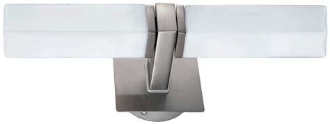 palermo modern satin nickel twin bathroom wall light 88284
