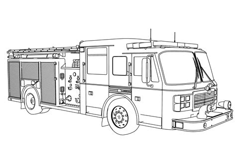 fire truck coloring pages    print