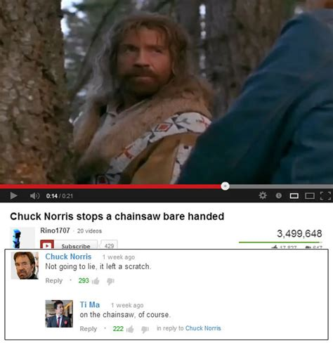 chuck norris stops chainsaw chuck norris stops a chainsaw bare handed shenhuifu