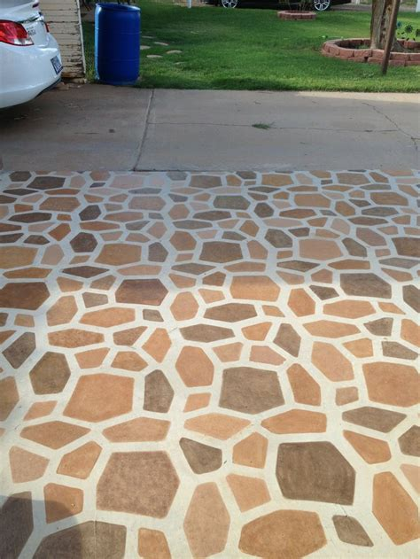 stained patio stones   path mold  painted grout