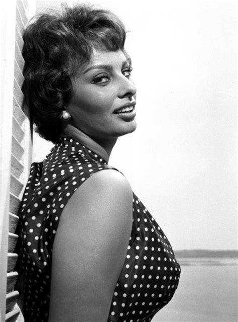 Sophia Loren at Cannes, 1958 - Stripes