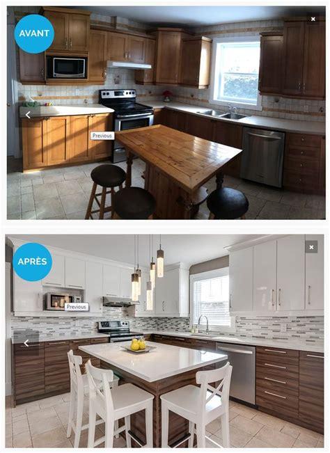 armoires de cuisine qu饕ec réalisation avant après kitchens armoires and decoration
