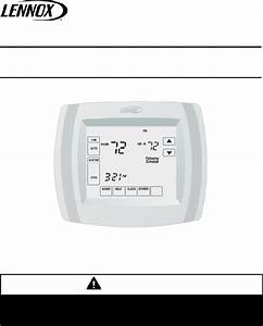 Lennox X4147 Thermostat Installation Instructions Manual