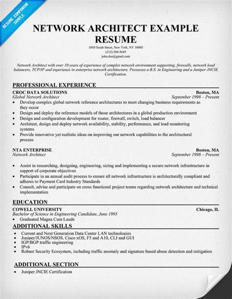 Network Architect Resume Sle by Pin Network Engineer Resume Page 28 Images Professional Curriculum Vitae Resume Template For