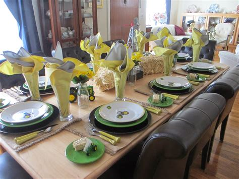The Welcomed Guest John Deere Tablescape