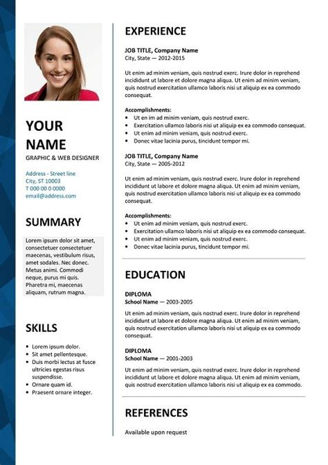 awesome cv template styles picture   desain cv