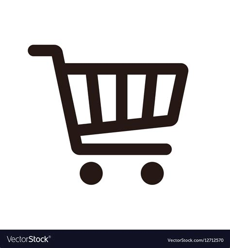 Shop Standard 25 In X Shopping Cart Icon Royalty Free Vector Image Vectorstock