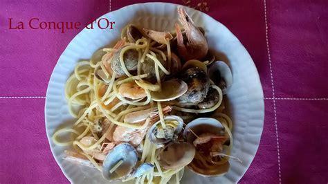 spaghettis aux coques  crevettes les recettes de enzo