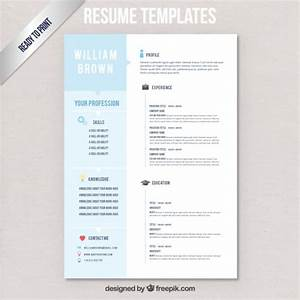 resume templates vector free download With free vector resume template